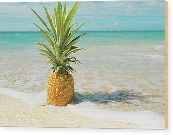 Wood Print featuring the photograph Pineapple Beach by Sharon Mau