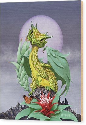 Pineapple Dragon Wood Print by Stanley Morrison