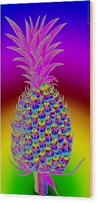 Pineapple Wood Print by Eric Edelman