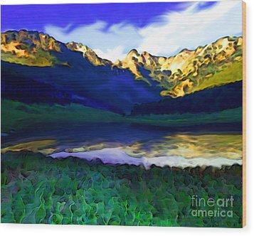Piney Mountain Wood Print