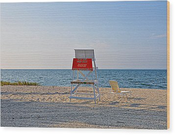 Piney Point Beach Wood Print by Bill Cannon