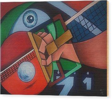 Ping Pong Wood Print