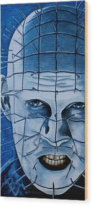 Wood Print featuring the painting Pinhead Up Close And Personal  by Al  Molina