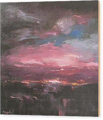Wood Print featuring the painting Pink by Anastasija Kraineva