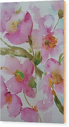 Pink Bloom Wood Print