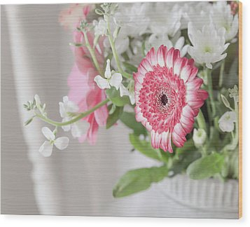 Wood Print featuring the photograph Pink Blooms Love by Kim Hojnacki