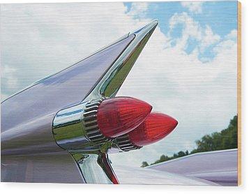 Pink Cadillac Wood Print