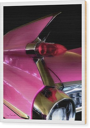 Pink Cadillac Wood Print by Trey Foerster