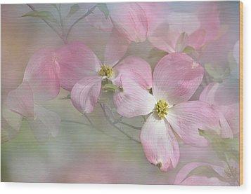 Pink Dogwood 02 Wood Print by Ann Bridges