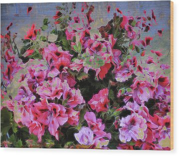 Pink Flower Fantasy Wood Print by Ann Powell