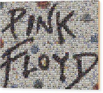 Pink Floyd Albums Mosaic Wood Print by Paul Van Scott