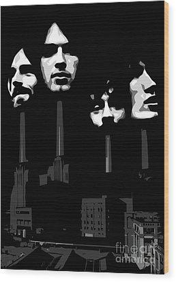 Pink Floyd No.02 Wood Print by Caio Caldas