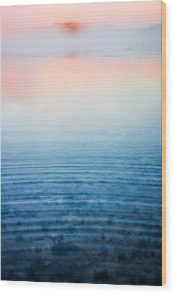 Pink Fog At Sunrise Wood Print by Shelby  Young