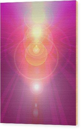 Pink Guardian-angel Wood Print by Ramon Labusch
