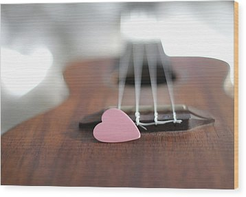 Pink Heart Wood Print by © 2011 Staci Kennelly
