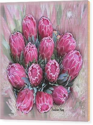 Pink Ice Wood Print by Nadine May