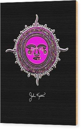 Pink Jewel Mohawk Sun Wood Print by John Keaton