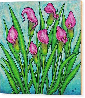 Pink Ladies Wood Print by Lisa  Lorenz