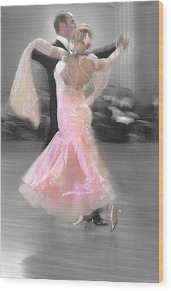 Pink Lady Dancing Wood Print by Kevin Felts