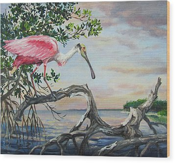 Pink Lady Wood Print by Dianna  Willman