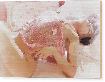 Pink Lady Wood Print by Kiran Joshi