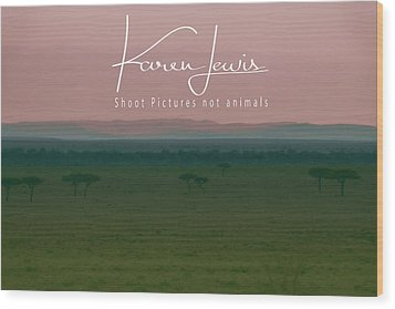 Wood Print featuring the photograph Pink Mara Dawn by Karen Lewis