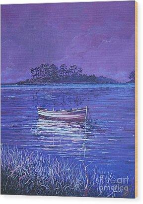 Pink Marsh Wood Print by Sinisa Saratlic