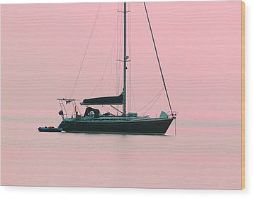 Wood Print featuring the photograph Pink Mediterranean by Richard Patmore