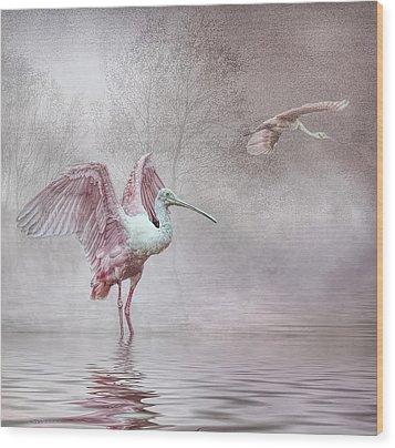 Pink Mist Wood Print by Brian Tarr