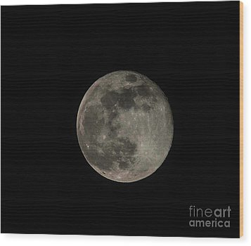 Wood Print featuring the photograph Pink Moon by David Bearden