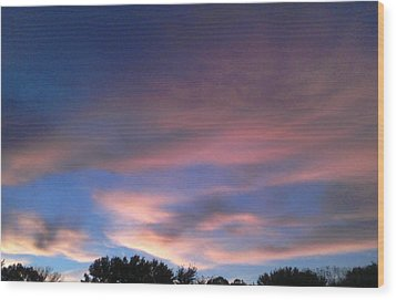 Pink Morning Clouds Wood Print by Don Koester