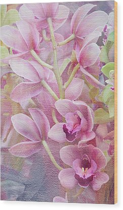 Wood Print featuring the photograph Pink Orchids by Ann Bridges