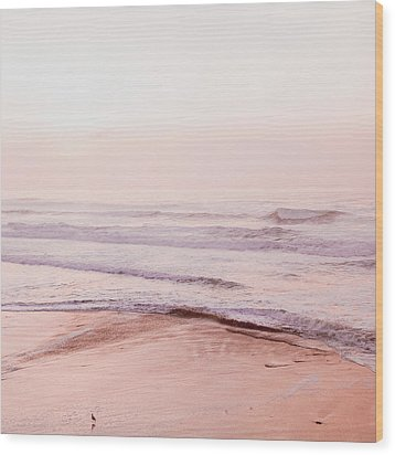 Wood Print featuring the photograph Pink Pacific Beach by Bonnie Bruno