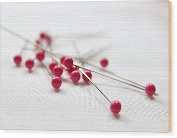 Pink Pins Wood Print