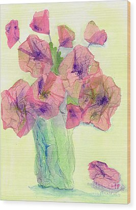 Pink Poppies Wood Print