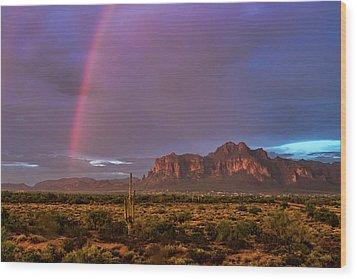 Wood Print featuring the photograph Pink Rainbow  by Saija Lehtonen