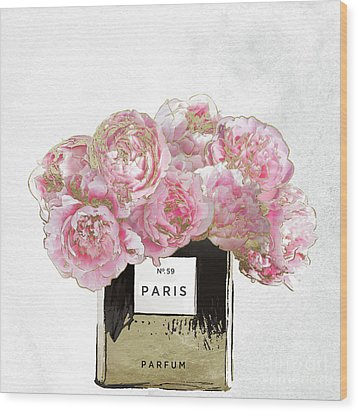 Pink Scented Wood Print by Mindy Sommers
