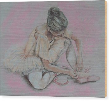 Pink Shoes Wood Print by Sandra Valentini