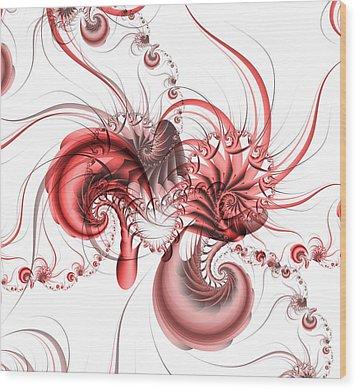 Pink Shrimp Wood Print by David April