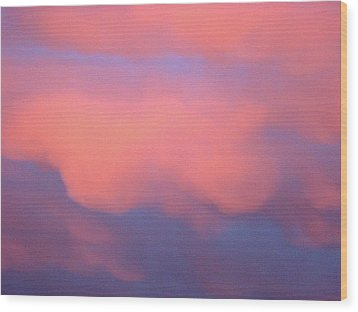 Pink Sky Wood Print by Marcia Crispino