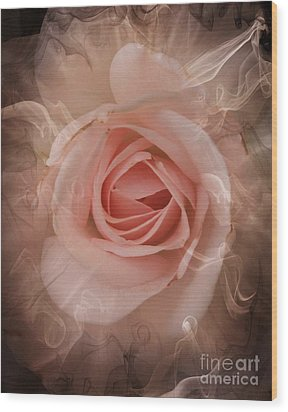 Pink Smokey Wood Print