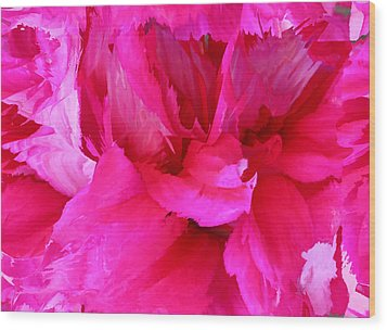 Pink Splash Wood Print