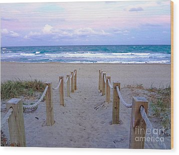 Pink Sunrise Beach Treasure Coast Florida C6 Wood Print