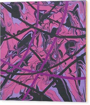 Pink Swirl Wood Print