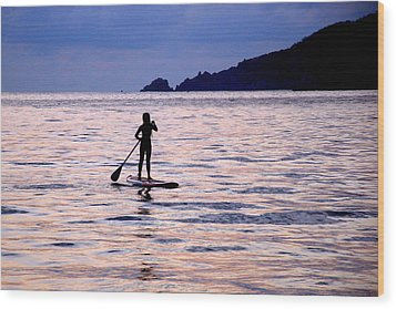 Wood Print featuring the photograph Pink Water Girl by Jim Walls PhotoArtist