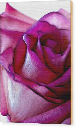 Pinked Rose Details Wood Print by Bill Tiepelman