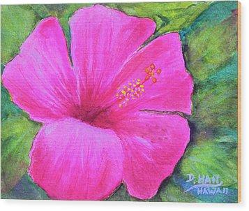 Pinkhawaii Hibiscus #505 Wood Print by Donald k Hall