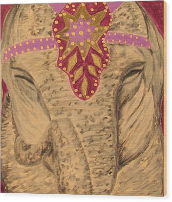 Wood Print featuring the drawing Pinky by Barbara Giordano