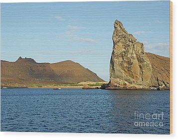 Pinnacle Rock From Sea Wood Print by Sami Sarkis