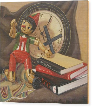Wood Print featuring the painting Pinocchio by Donelli  DiMaria